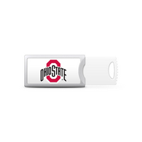 Ohio State University Custom Logo USB Drive Push 32GB Silver