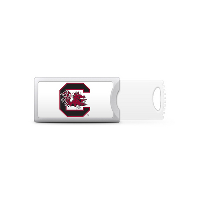 University of South Carolina Custom Logo USB Drive Push 32GB Silver