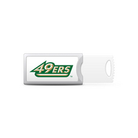 Univ of North Carolina Charlotte Custom Logo USB Drive Push 32GB Silver