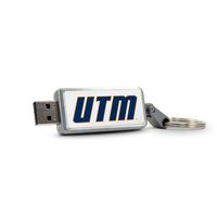 University of Tennessee Martin Custom Logo USB Drive Keychain 32GB Silver