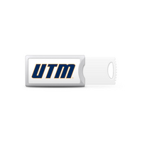 University of Tennessee Martin Custom Logo USB Drive Push 32GB Silver