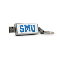 Southern Methodist University Custom Logo USB Drive Keychain 32GB Silver