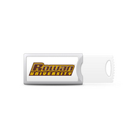 Rowan University Custom Logo USB Drive Push 32GB Silver