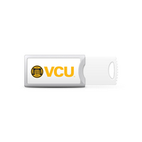Virginia Commonwealth University Custom Logo USB Drive Push 32GB Silver