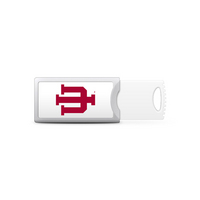Indiana University Custom Logo USB Drive Push 32GB Silver