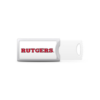 Rutgers University Custom Logo USB Drive Push 32GB Silver