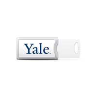 Yale University Custom Logo USB Drive Push 32GB Silver