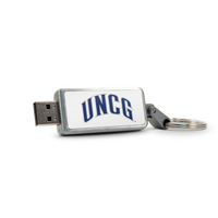 Univ North Carolina Greensboro Custom Logo USB Drive Keychain 32GB Silver