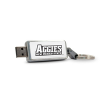 New Mexico State University Custom Logo USB Drive Keychain 32GB Silver