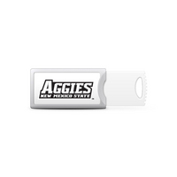 CENTON ELECTRONICS, INC. New Mexico State University Custom Logo USB Drive Push 32GB Silver
