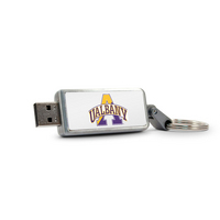 University at Albany Custom Logo USB Drive Keychain 32GB Silver