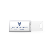 Johns Hopkins University Custom Logo USB Drive Push 32GB Silver