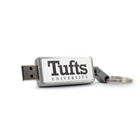 Tufts University Custom Logo USB Drive Keychain 32GB Silver