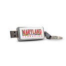 University of Maryland Custom Logo USB Drive Keychain 32GB Silver