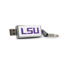 Louisiana State University Custom Logo USB Drive Keychain 32GB Silver