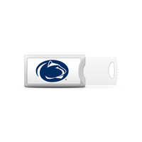 Pennsylvania State University Custom Logo USB Drive Push 32GB Silver