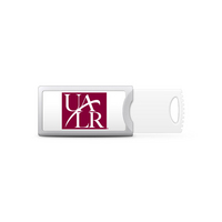 University of Arkansas Little Rock Custom Logo USB Drive Push 32GB Silver