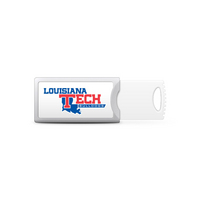 Louisiana Tech Custom Logo USB Drive Push 32GB Silver