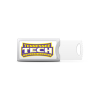 Tennessee Technological University Custom Logo USB Drive Push 32GB Silver