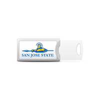 San Jose State University Custom Logo USB Drive Push 32GB Silver