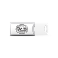 Phillips Exeter Academy Custom Logo USB Drive Push 16GB Silver