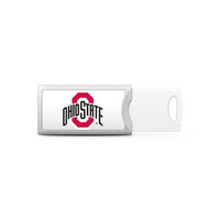 Ohio State University Custom Logo USB Drive Push 16GB Silver