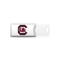 University of South Carolina Custom Logo USB Drive Push 16GB Silver