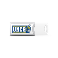 UNC Greensboro Custom Logo USB Drive Push 16GB Silver