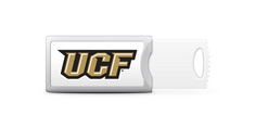 University of Central Florida Custom Logo USB Drive Push 16GB Silver