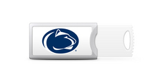 Pennsylvania State University Custom Logo USB Drive Push 16GB Silver