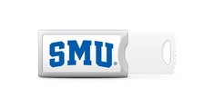 Southern Methodist University Custom Logo USB Drive Push 16GB Silver