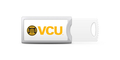 Virginia Commonwealth University Custom Logo USB Drive Push 16GB Silver