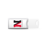 Northeastern University Custom Logo USB Drive Push 16GB Silver