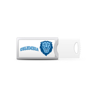 Columbia University Custom Logo USB Drive Push 16GB Silver