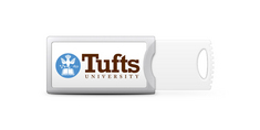 Tufts University Custom Logo USB Drive Push 16GB Silver