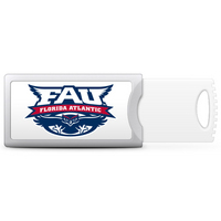 Florida Atlantic University Custom Logo Push USB Drive 16GB Silver