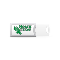University of North Texas Custom Logo USB Drive Push 16GB Silver