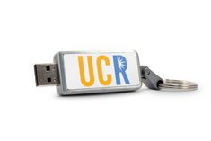 Univ of California Riverside Custom Logo Keychain USB Drive 16GB Silver