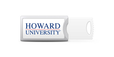 Howard University Custom Logo USB Drive Push 16GB Silver