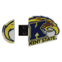 US DIGITAL MEDIA INC Kent State Golden Flashes Custom Logo Shape USB Drive 16GB