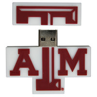 US DIGITAL MEDIA, INC Texas A&M Aggies Logo Shape USB Drive 16GB