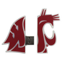 US DIGITAL MEDIA, INC Washington State Cougars Logo Shape USB Drive 16GB
