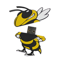 US DIGITAL MEDIA, INC Georgia Tech Yellow Jackets Logo Shape USB Drive 16GB
