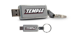 Temple University Custom Logo USB Drive Keychain 16GB