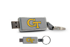 Georgia Tech Custom Logo USB Drive Keychain 8GB