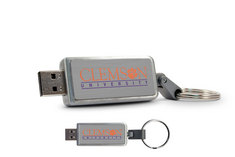 Clemson University Custom Logo USB Drive Keychain 16GB