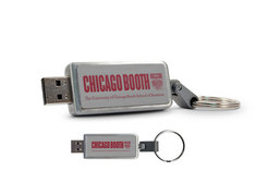 Gleacher Center Custom Logo USB Drive Keychain 16GB