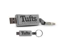 Tufts University Custom Logo USB Drive Keychain 16GB