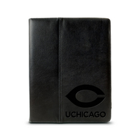 University of Chicago Custom Logo Embossed Leather iPad Sleeve Black