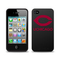 University of Chicago Custom Logo iPhone 4 Case Black